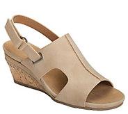Aerosoles Heel Rest Wedge Sandals - Shortcake - A412854