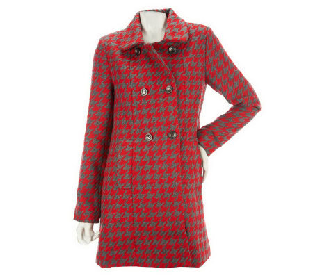CE by Cristina Ehrlich Houndstooth Coat