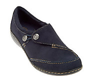 As Is Clarks Bendables Ashland Leather Slip-On Shoes - A231355