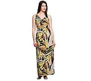 Kelly by Clinton Kelly Empire Waist Printed Maxi Dress - A233355