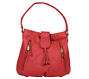 Muxo by Camila Alves Pebble Leather and Suede Slouchy Hobo - A237455