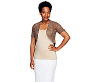 Liz Claiborne New York Hand Crochet Open Front Shrug - A253755