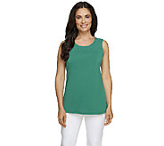 Susan Graver Essentials Liquid Knit Scoop Neck Tank - A255955