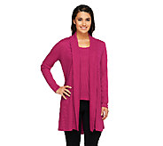 Attitudes by Renee Regular Tank and Cardigan Cashknit Set - A256155