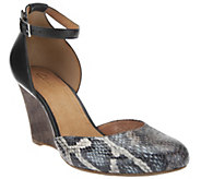 As Is Clarks Artisan Purity Hyline Closed Toe Wedges - A258655