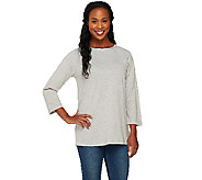 Denim & Co. Essentials Bateau Neck 3/4 Sleeve Top - A260055