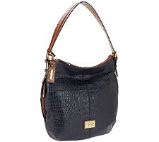 Tignanello Croco Embossed Glazed Vintage Leather Hobo
