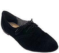 Isaac Mizrahi Live! Suede Oxfords - A261655