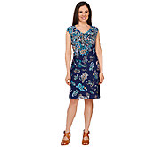 Isaac Mizrahi Live! Engineered Printed Paisley Ponte Dress - A262055