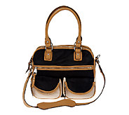 As Is Aimee Kestenberg Leather Lucy Satchel with Front Pockets - A265155