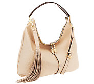As Is G.I.L.I. Milano Double Zip Exotic Leather Hobo - A266155