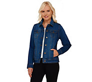 Liz Claiborne New York Shaded Denim Jacket - A267255