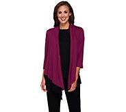 Joan Rivers Jersey Knit Layered Waterfall Cardigan - A268555