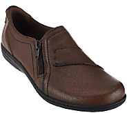 Earth Origins Leather Slip-ons with Side Zipper - Jocelyn - A270055