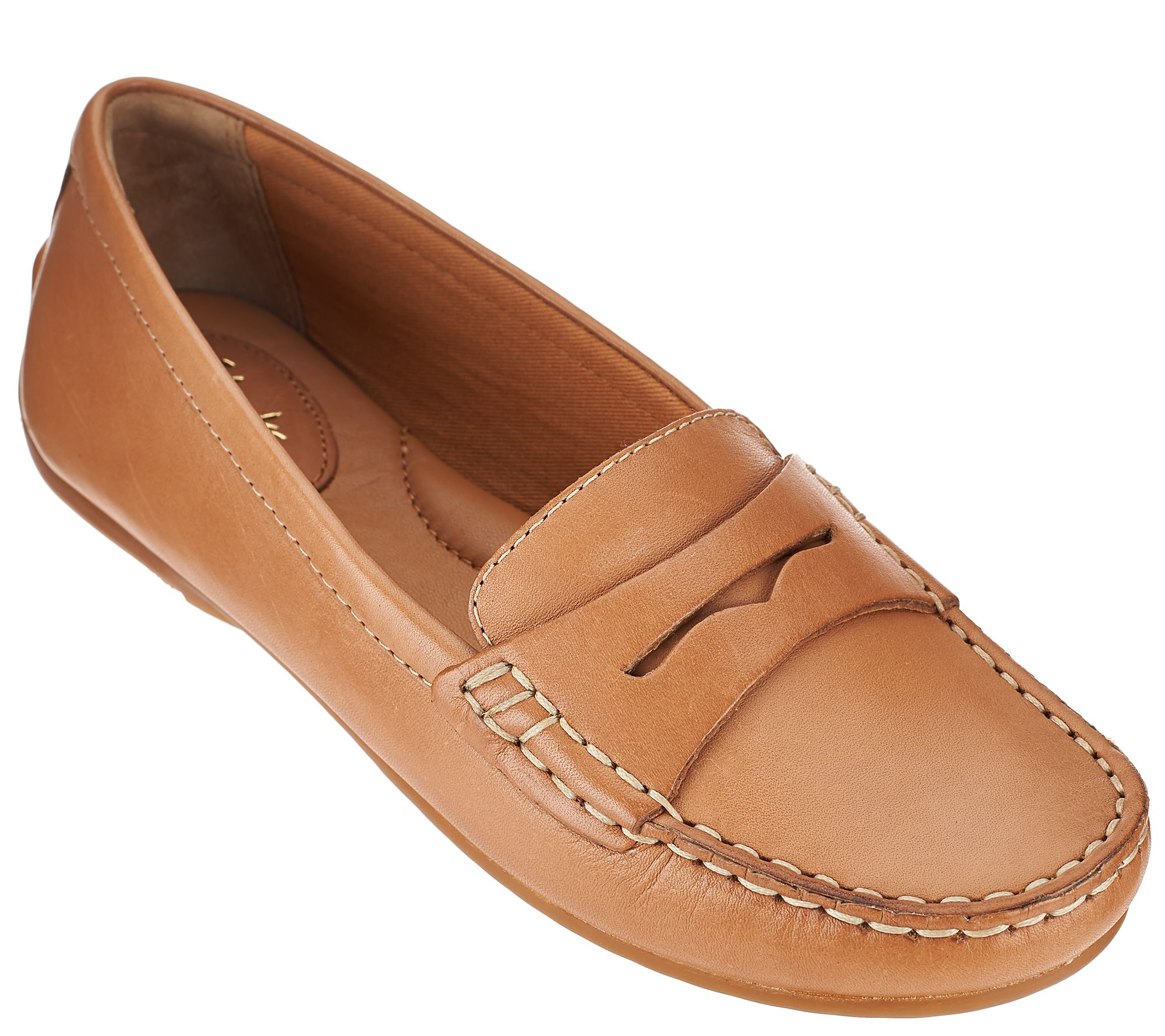 Clarks Artisan Leather or Nubuck Loafers - Doraville Nest - Page 1 — QVC.com