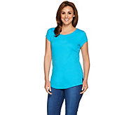 Isaac Mizrahi Live! Essentials Scoopneck Knit T-shirt - A275455