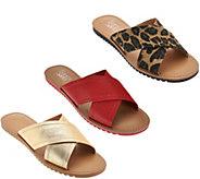Franco Sarto Cross Strap Slide Sandals - Quentin - A276055