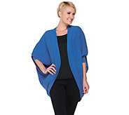 As Is Layers by Lizden Cotton Tri-Blend Cocoon Cardigan - A281255