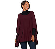Belle by Kim Gravel Bateau Neck Knit Poncho - A283055
