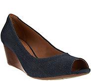 As Is Clarks Artisan Peep-toe Wedges - Burmese Art - A283555