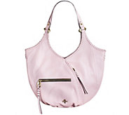 As Is orYANY Pebble Leather Hobo with Whip-Stitching - Demi - A285855