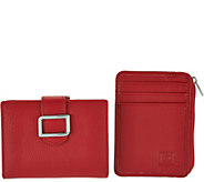 ID Stronghold RFID Buckle Trifold with Kiss Clasp and Mini Zip - A286155