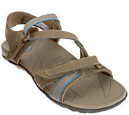 As Is Vionic Orthotic Leather Sport Sandals w/ Adj. Straps - Muir - A286355