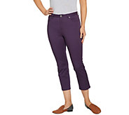 LOGO by Lori Goldstein Stretch Twill 5-Pocket Crop Pants - A288055