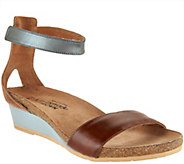 Naot Leather Ankle Strap Wedge Sandals - Pixie - A288155