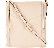 G.I.L.I. Leather Double Zip Flat Crossbody - A293055