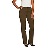 LOGO by Lori Goldstein Stretch Twill Mini Bootcut Pants - A298955