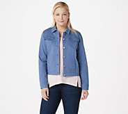 Susan Graver Stretch Twill Button Front Jacket - A301155