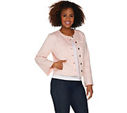 Belle by Kim Gravel Stretch Twill Jacket with Bell Sleeves - A303555