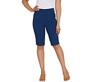 Joan Rivers Joans Signature Pull-On Bermuda Shorts - A303955