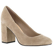 Bella Vita Leather or Suede Block Heel Pumps -Nara - A341155