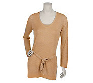 Susan Graver Metallic Pattern Tunic with Tank and Belt - A75855