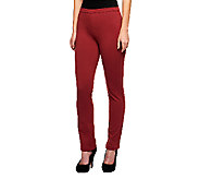 Isaac Mizrahi Live! Icon Grace Regular Pull-On Ponte Knit Pants - A235256