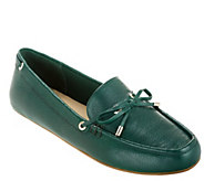 Isaac Mizrahi Live! Leather Moccasins with Bow - A236956