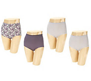 Jockey Set of 4 Traditional Fit High Waist Brief Panties - A237656