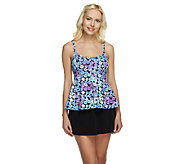 Fit 4 U Tummy Full Bloom Cami Peplum Skirtini - A252556
