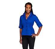 Joan Rivers Signature Jacket with 3/4 Tab Sleeves - A253756