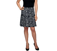 Susan Graver Liquid Knit Printed Pull-on Skort - A254356