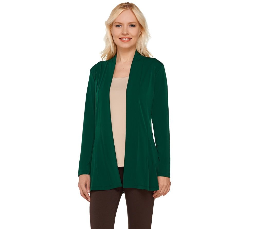 Susan Graver Liquid Knit Long Sleeve Open Front Cardigan - Page 1 ...