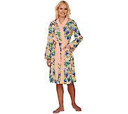 Isaac Mizrahi Live! Floral Print Jersey Robe - A263956