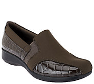 As Is Clarks Stretch & Croco Embossed Shoes - Gael Beam - A264556