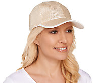 Tashon Metallic Straw Baseball Hat - A264756