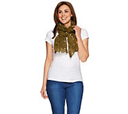Denim & Co. Star Printed Scarf 28 x 72 - A274556