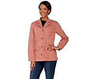 Denim & Co. Long Sleeve Button Front Utility Jacket - A275256