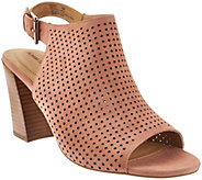 Adam Tucker Perforated SuedePeep-toe Sandals - Meridia - A275556