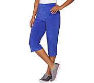 Quacker Factory Terry Cloth Pull-On Capri Pants - A276756
